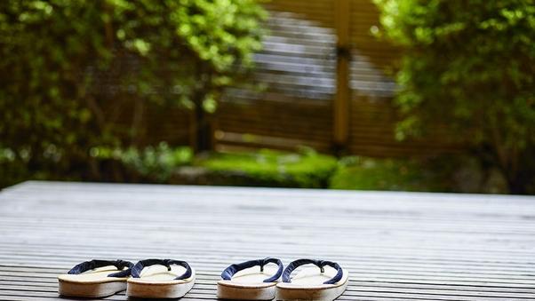 【万葉館 庭園デッキ付客室 12.5畳】個室食事処