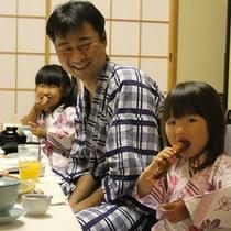 【家族旅行】おいしい夕食をいただきま〜す