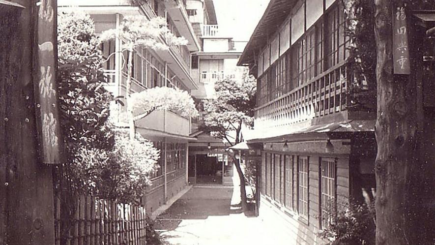昭和初期福一旅館入口