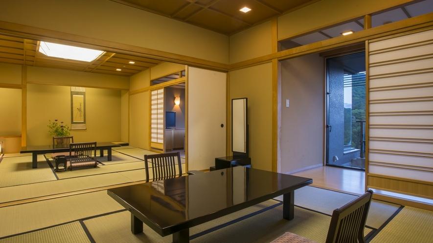 貴賓室 夕暮れ落着いた和の趣のある客室です。