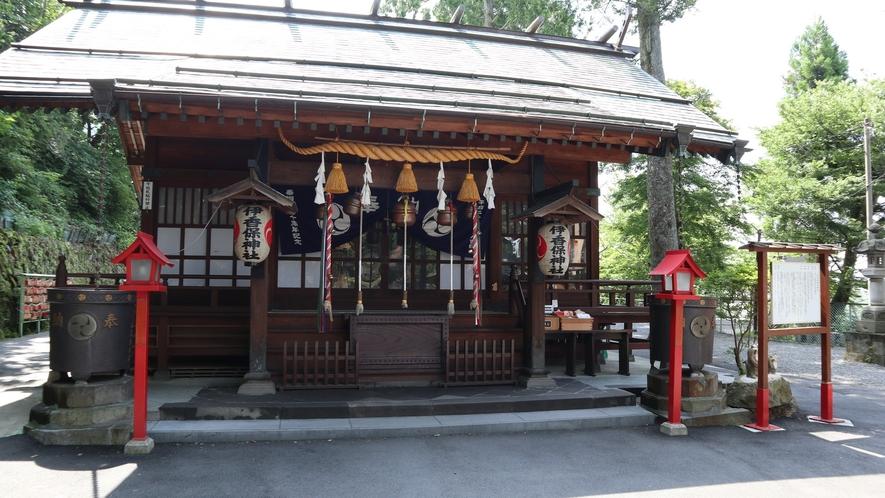 伊香保神社へも徒歩で散策。
