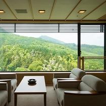 高層階特別室 山脈の眺望をお楽しみいただけます。