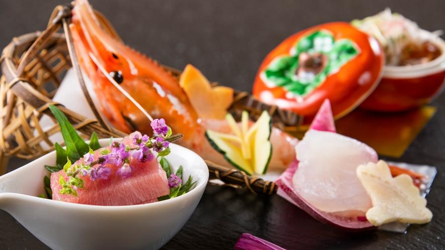 彩鮮やかな、福一の会席料理をお愉しみください。