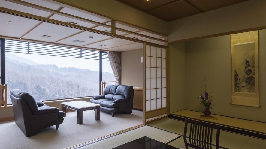 福一の貴賓室~夏には美しい緑、秋には紅葉、冬には雪景色を眺める伊香保の自然に包まれた客室。