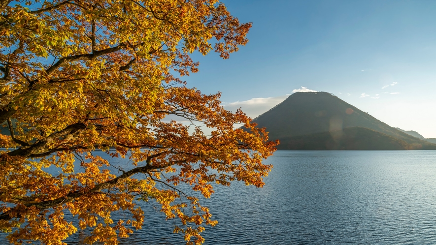 紅葉と榛名山