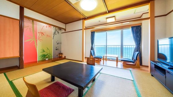 別府湾を見渡せる【海側】の和室!8畳〜10畳