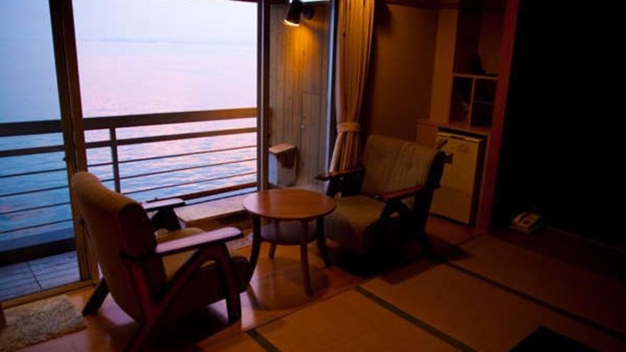 【最上階】海側足湯付客室(一例)