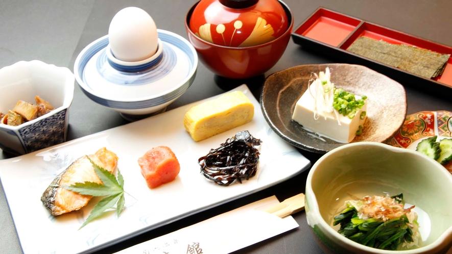 菊池の食材をとり入れた 温かい和朝食をご用意いたします。