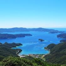 高知山展望台より大島海峡(奄美観光協会提供画像)