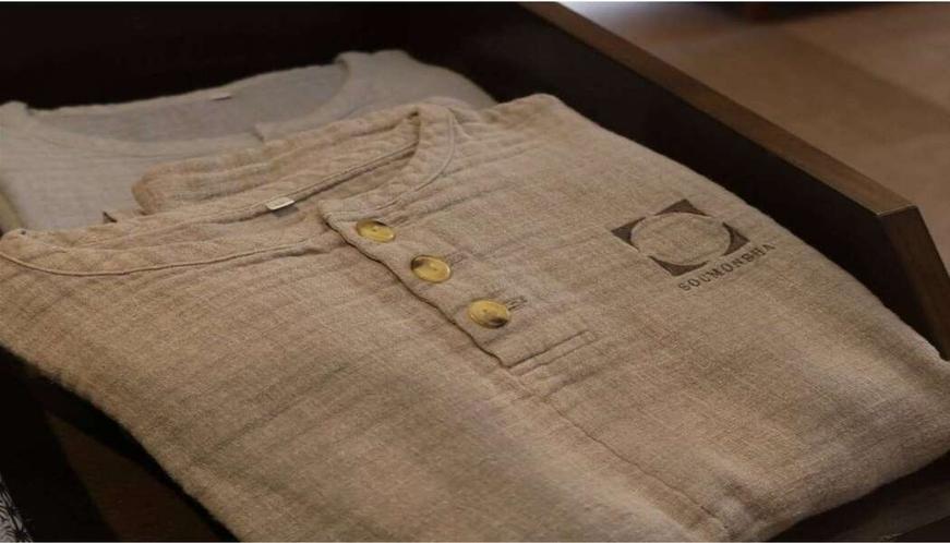 【ルームウェア(無料)】相聞舎オリジナル ガーゼ生地の肌に優しい素材使用