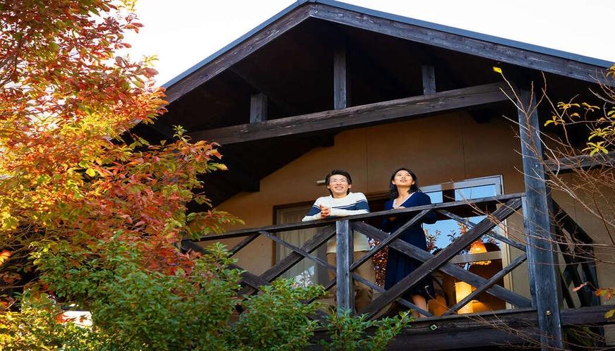 """閑かで美しい阿蘇の大自然に囲まれた""""大人の空間""""で時を忘れごゆるりとお寛ぎくださいませ"""