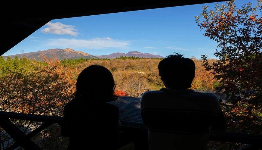 晴れた日の小高い場所から、久住連山や阿蘇の大自然が遠くまで見渡せます。