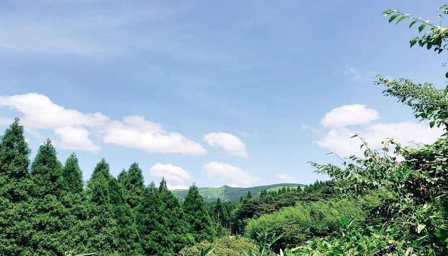 九重連山に囲まれた大自然