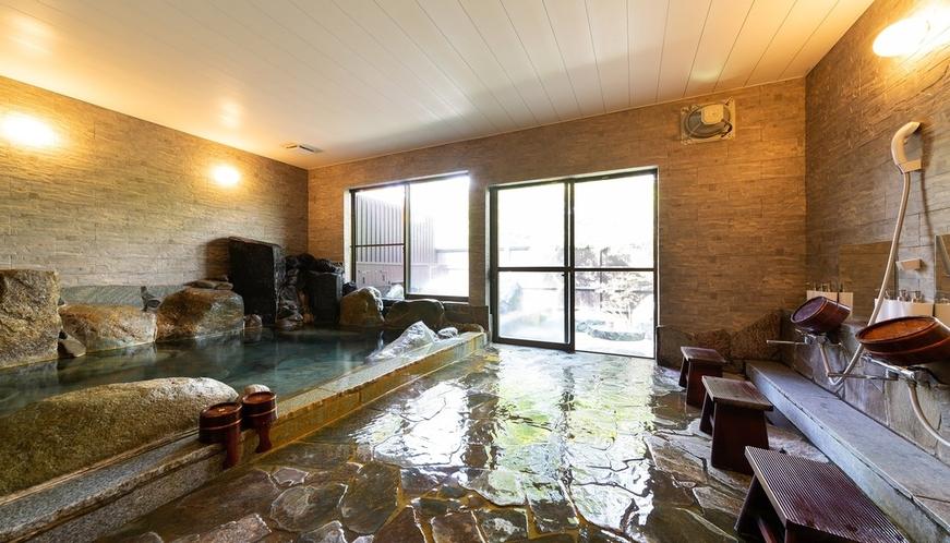 【大浴場(女湯)】源泉かけ流し100% ゆっくり手足を伸ばしてお寛ぎください