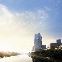 ■帝国ホテル大阪は自然に囲まれ、ゆったりとした時をお過ごしいただけます。