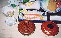お食事例:夕食(姫鱒コース)