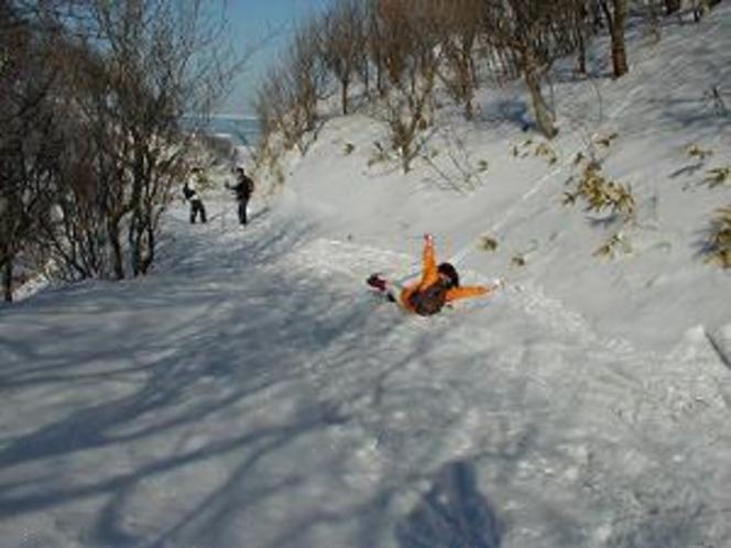 流氷大冒険クロカンでの一こま
