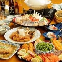 宴会プラン料理の一例