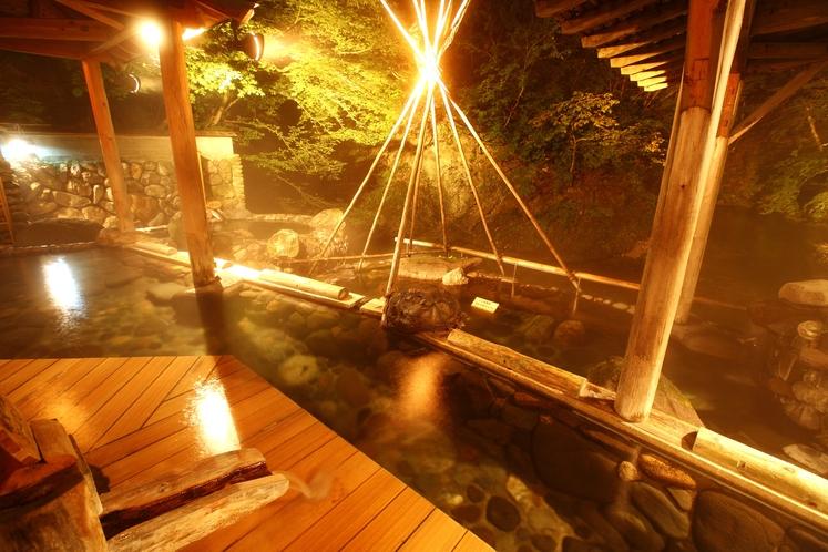 広瀬川源流露天風呂‗夜