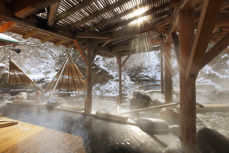 広瀬川源流露天風呂‗冬