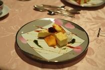 手作りデザート例・・チーズケーキ
