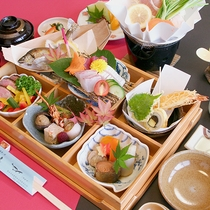 【お料理】松花堂一例