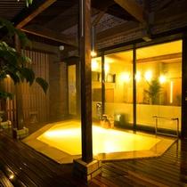 【露天風呂♪】:大浴場(夜)