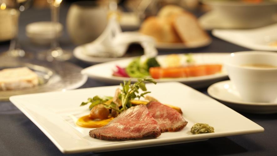 【夕食】ローストビーフ増量