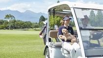 愛犬と一緒にゴルフ♪