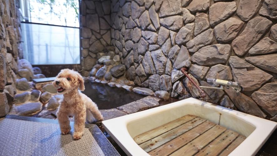 愛犬と一緒に利用可。貸し切り風呂