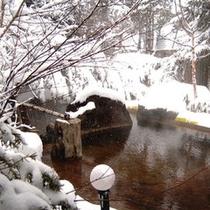 混浴大露天風呂「枯山水」 (冬は雪見風呂に♪)