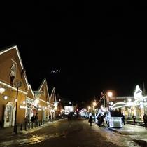 *周辺観光(函館赤レンガ倉庫イルミネーション)/クリスマスシーズンのイルミネーションは必見です。