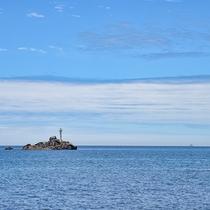 *【壱岐郷ノ瀬灯台】当館から車で約40分。壱岐の南部に位置する灯台。