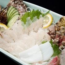 *【夕食一例/舟盛おこぜ】壱岐の海の幸を盛り込んだ舟盛り