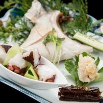 *【夕食一例/前菜】壱岐の海の恵みを味わえます♪