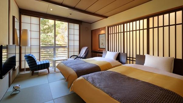 【紅葉】和洋室10畳ツインベッド(バス付)