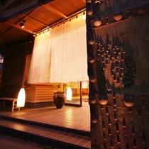 ■夜の玄関