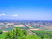 【新嵐山展望台】雄大な十勝平野を望めます。