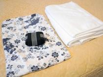 【客室設備】浴衣に着替えてリラックスしてお過ごしくださいませ。
