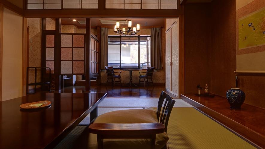 *湯峠館・露天風呂付客室「花伝」/2013年6月リニューアルのお部屋
