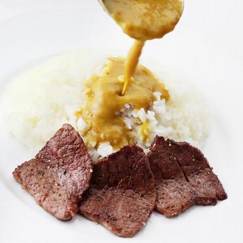 金谷ホテル百年ライスカレー うす切り牛肉のソテー添え