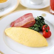 オムレツが好評のご朝食