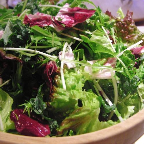 生野菜サラダ:朝からミネラルたっぷり、栄養たっぷりとって体の調子を整えてくださいね。