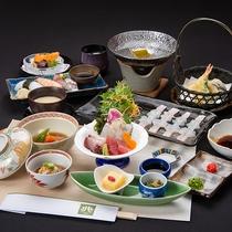 *夕食(グレードアップ会席御膳)/こだわりの食材を使った贅沢な会席御膳。旬の味をお楽しみください