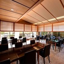 *お食事処「兆-きざし-」/日本庭園風な作りで、和の落ち着いた空間が広がります。