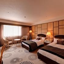 *ツインルーム(25~29㎡)/リニューアル済みのお部屋。スタイリッシュな雰囲気です。