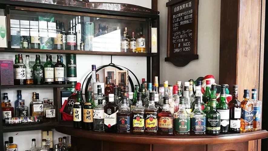 *ラウンジ一例/地元の銘酒「白州」を始め、世界中の銘柄が揃う「お酒コーナー」