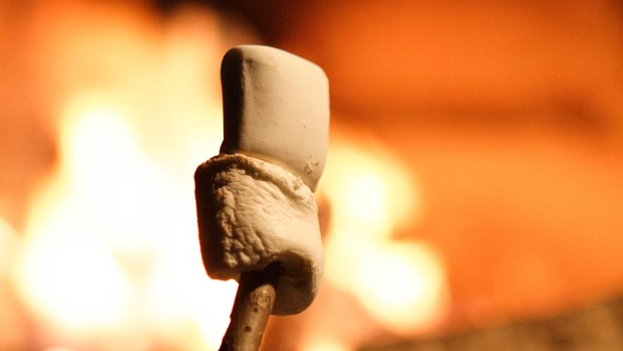 *焚火で焼きマシュマロ!絶品です♪