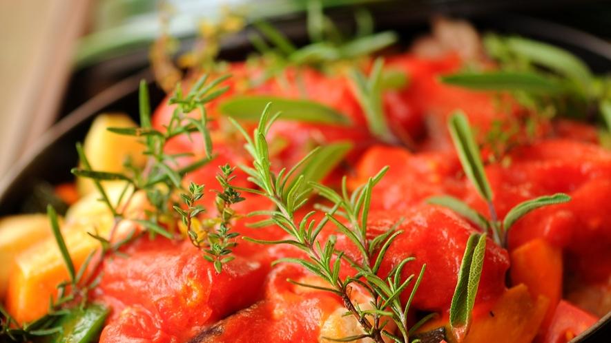 *食事一例/新鮮野菜のグリル