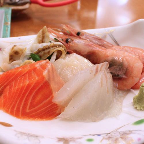 夕食のお刺身